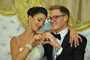 The happy newlyweds, Maayan and Chad. Photo via http://newshaifakrayot.net/