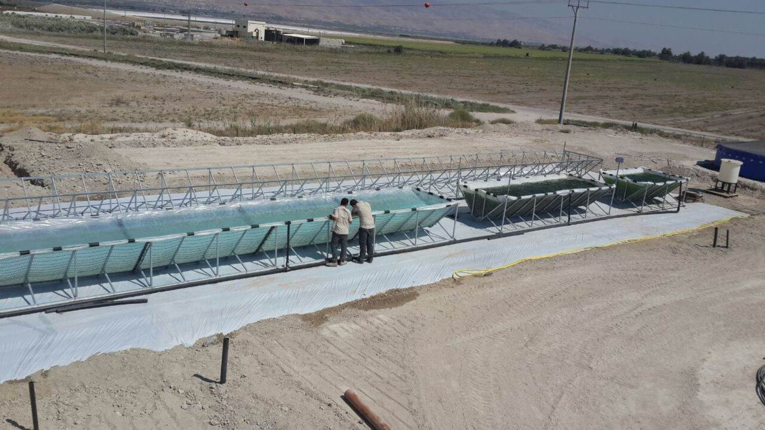 Univerve's microalgae farm under construction in the Beit She'an Valley. Photo: courtesy