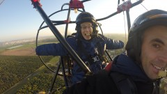 Viva Sarah Press and Sharon Baram soaring at 220 meters. Photo courtesy of Extreme Israel