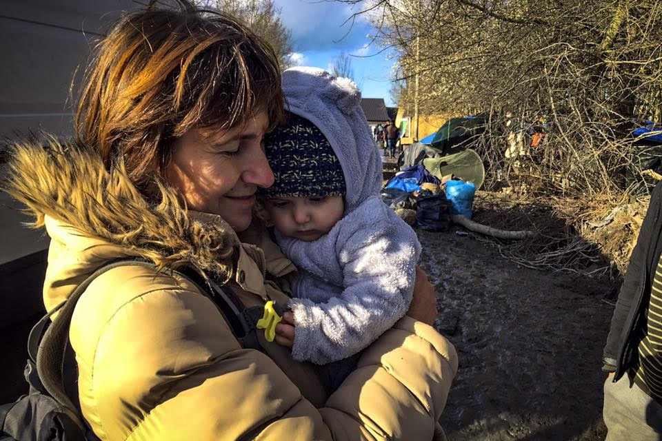 A warm hug. Dunkirk, France. Photo by IsraAID