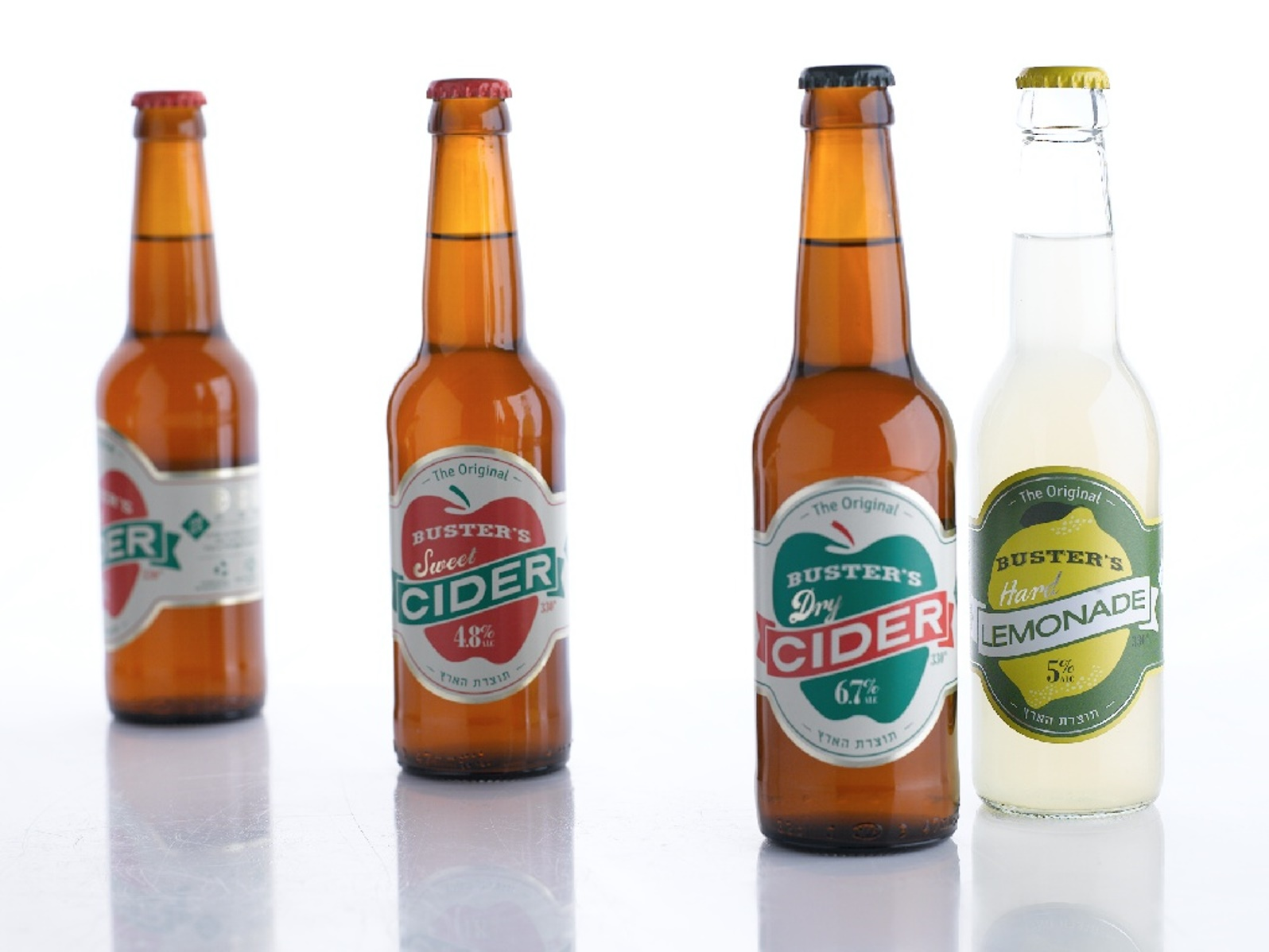 Buster's sells three varieties of cider and a hard lemonade. Photo: courtesy