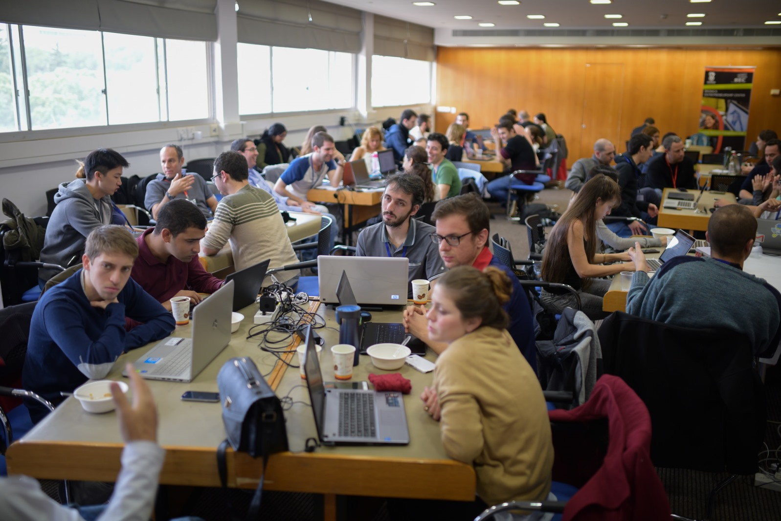 Students during the 3DS contest at the Technion. Photo courtesy of the Technion Spokesperson's Office