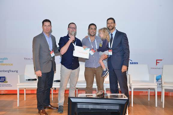 6over6, the Israeli startup with an optometry app that will revolutionize vision care, receives mHealth Israel 2016 prize. Photo by Oleg Luft