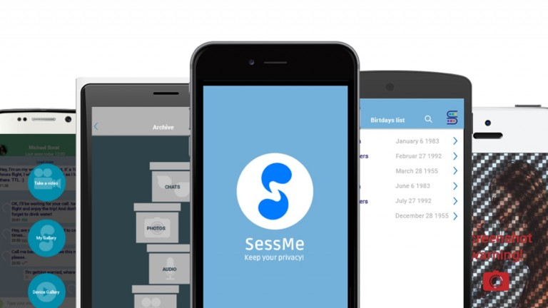 SessMe lets you erase photos and texts you've sent, encrypt messages and do many other functions related to privacy. Photo: courtesy