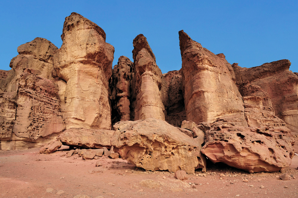 Solomon's Pillars in Timna Park. Photo by www.shutterstock.com