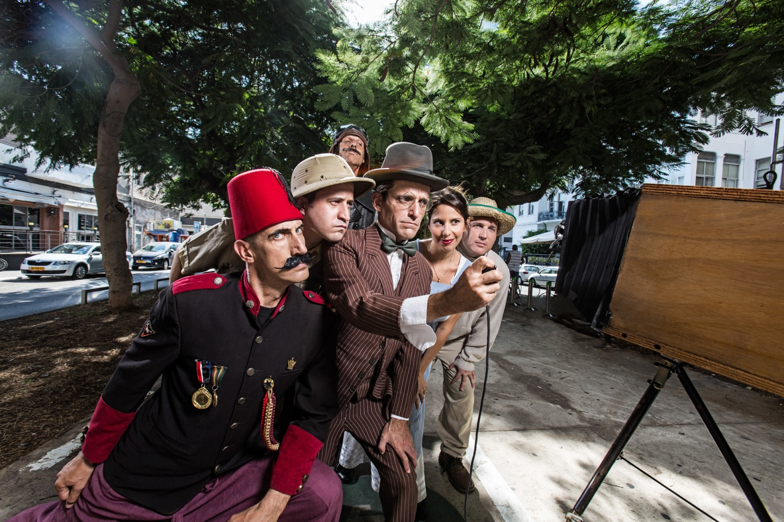 Tarbush Actor Tours take a humorous look at Tel Aviv history. Photo: courtesy