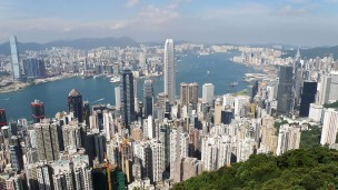 Overlooking Hong Kong. Photo by Exploringlife, courtesy of Wikipedia Commons