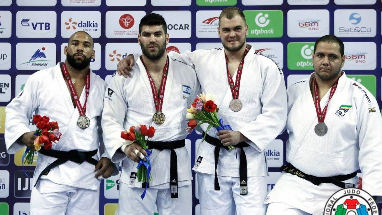 Tbilisi Grand Prix 2016 Podium +100 kg. Photo via IJF