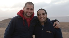 Ami Dror, left, and Forsan Hussein are partners in Zaitoun Ventures. Photo: courtesy