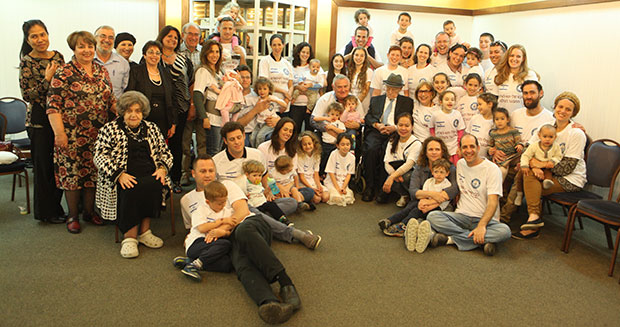 Israel Kristal with his extended family. Photo by Guinness World Records