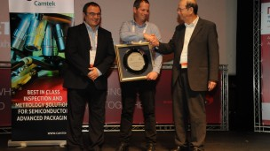 Dr. Shaul Lapidot, CEO, Melodea, received Nanotechnology Innovation of the Year Award at NanoIsrael 2016 in Tel Aviv. Photo courtesy of Yissum