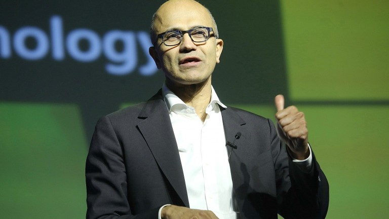 Microsoft CEO Satya Nadella lauded Microsoft Israel at Think Next 2016 in Tel Aviv. Photo by Koby Kantor