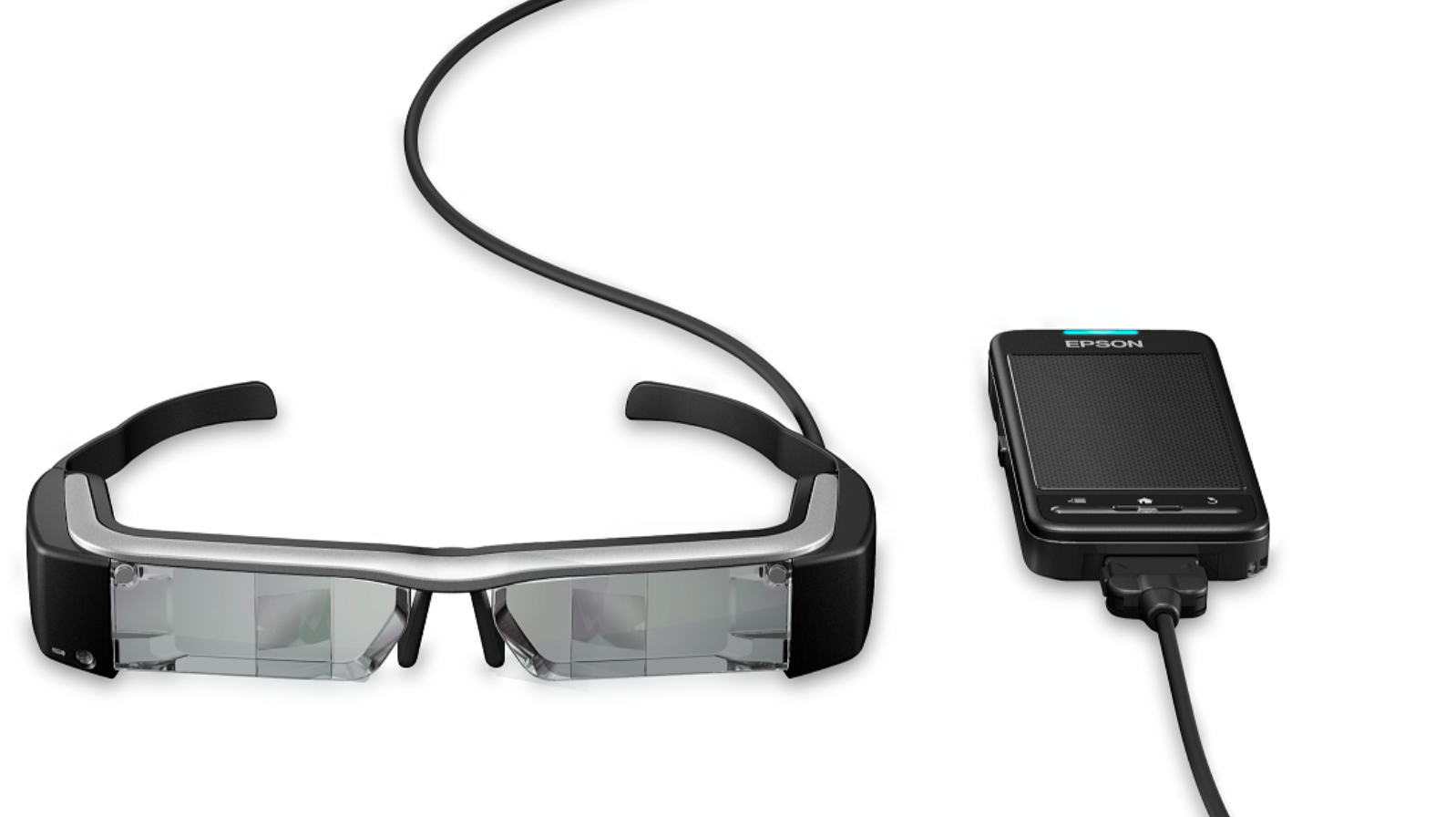 Moverio BT200 smart glasses. Photo courtesy of Epson
