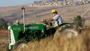 Photo of Kibbutz Lahav fields by Moshe Shai/FLASH90.