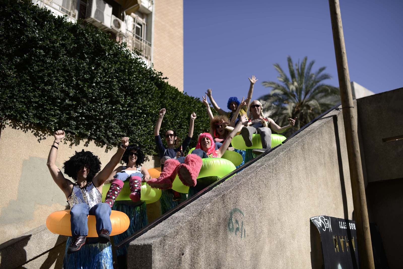 Purim in Tel Aviv. Photo by Tomer Neuberg/FLASH90
