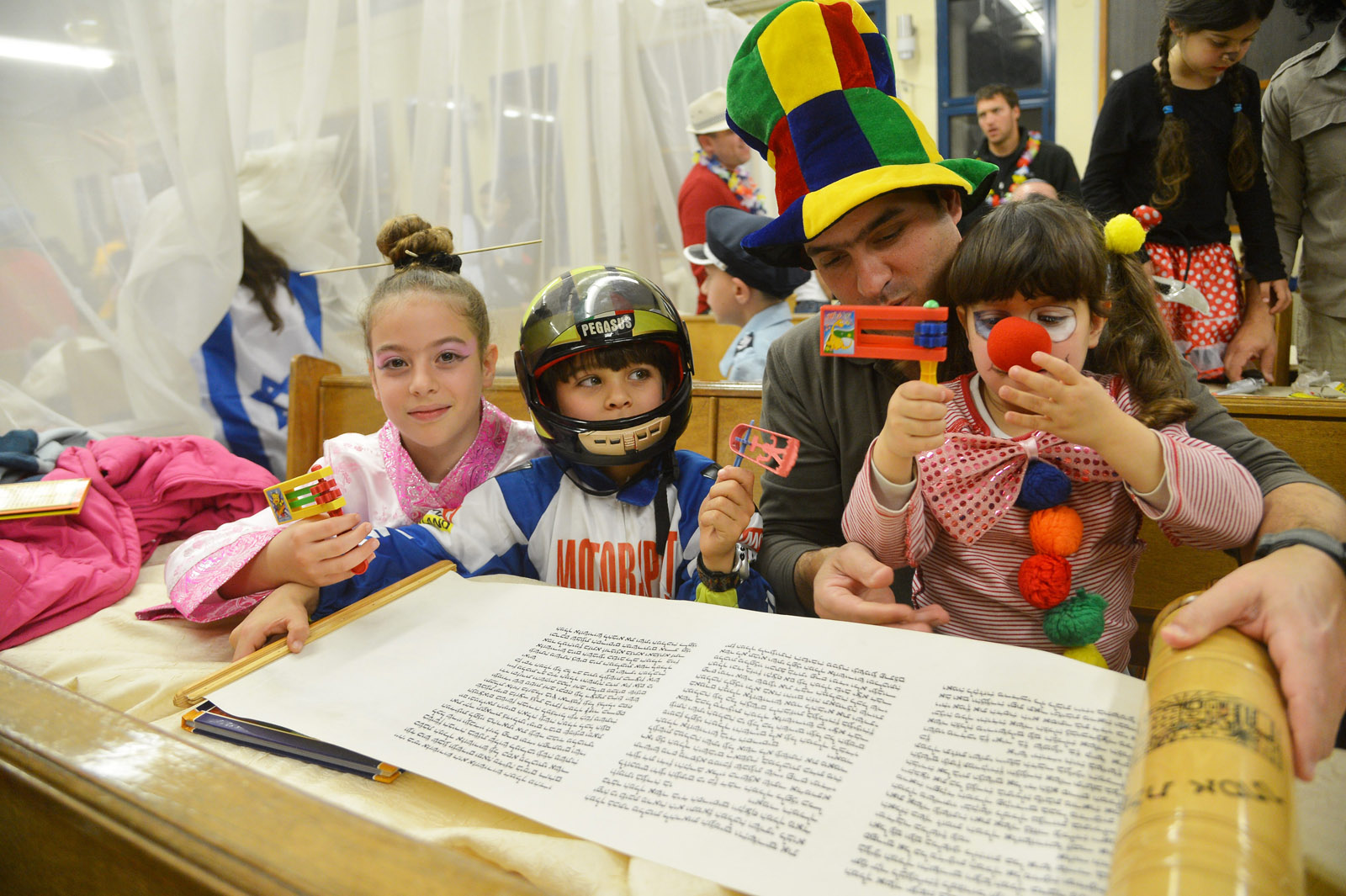 Reading the Megillah. Photo by Yossi Zeliger/FLASH90