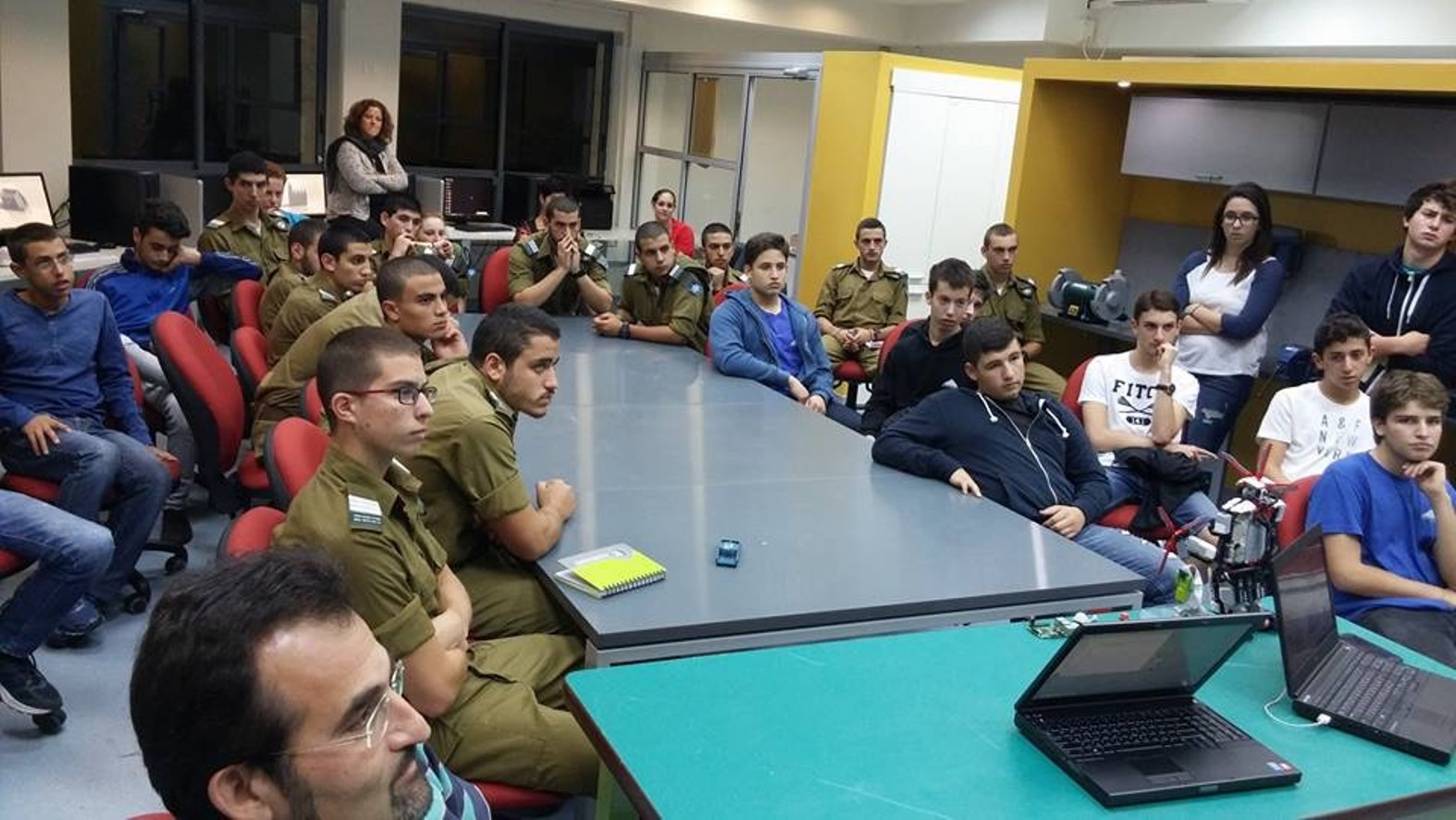 Tech Lounge's opening event at the Reali School in Haifa. Photo: courtesy