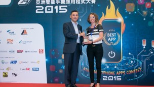 Silver award winners WinkApp at last year's Asia Smartphone Apps Contest. Photo courtesy