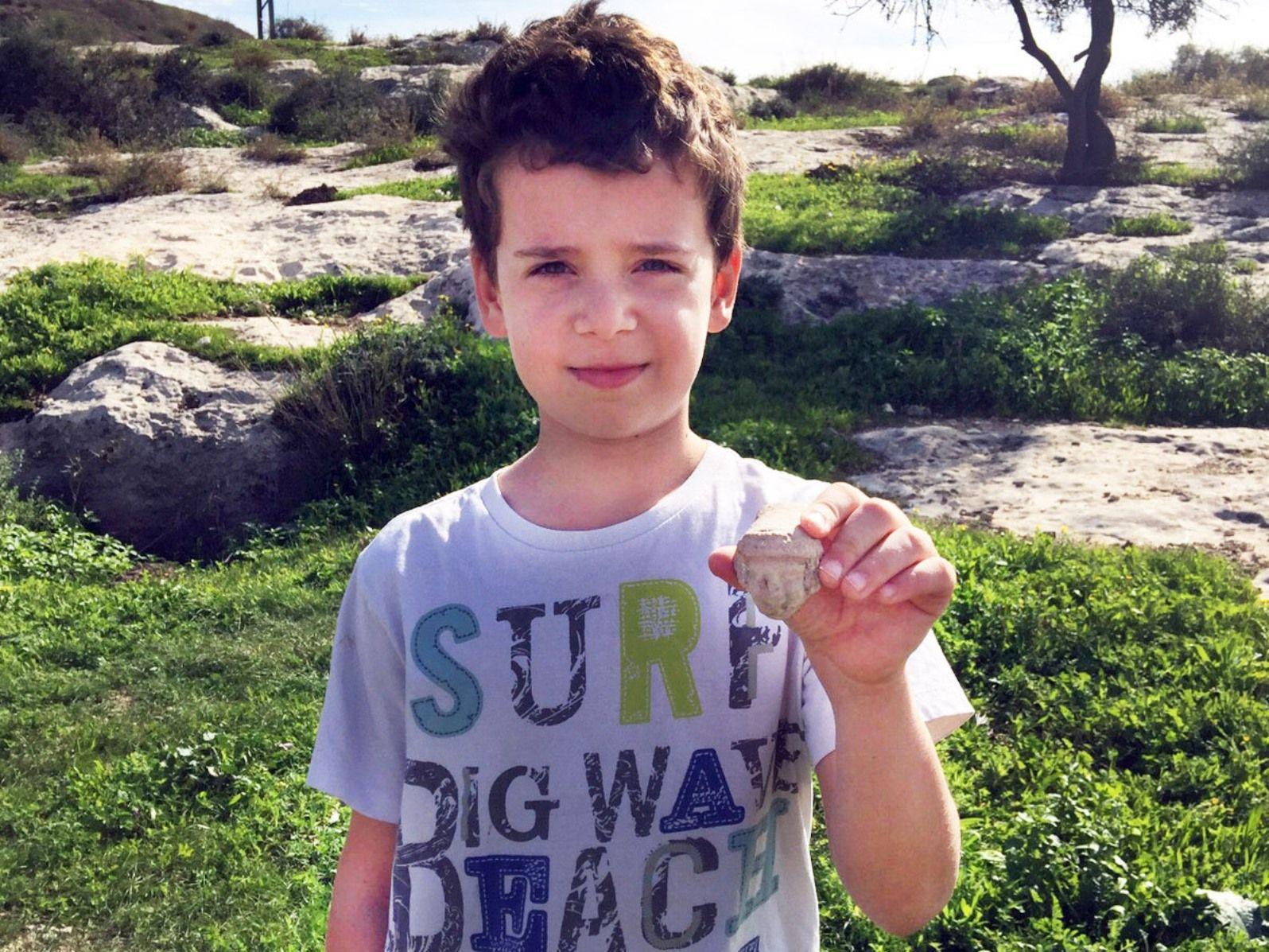 Itai Halperin found this First Temple treasure in Tel Beit Shemesh. Photo by Arik Halperin