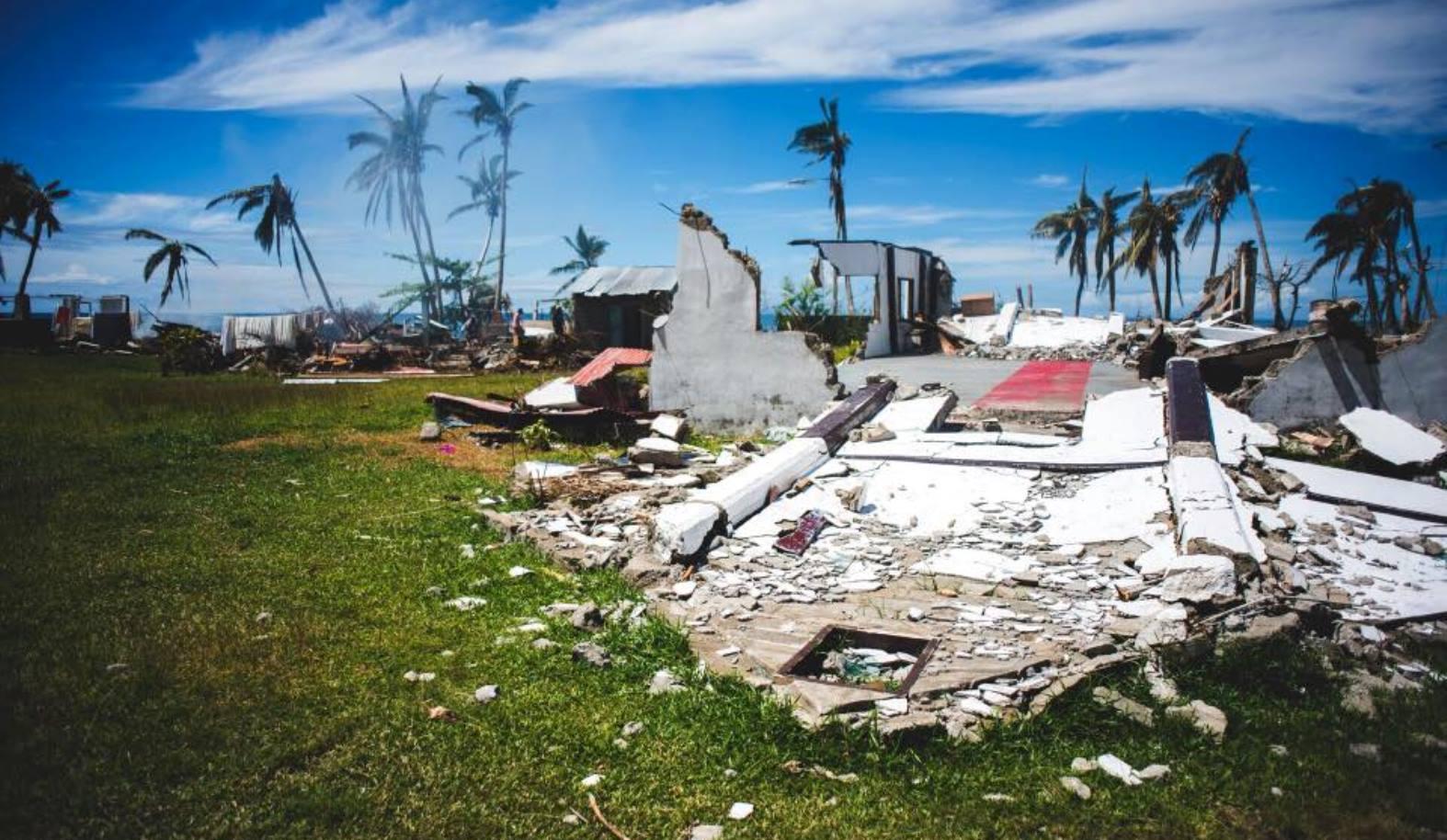 Devastation in Fiji. Photo via Facebook