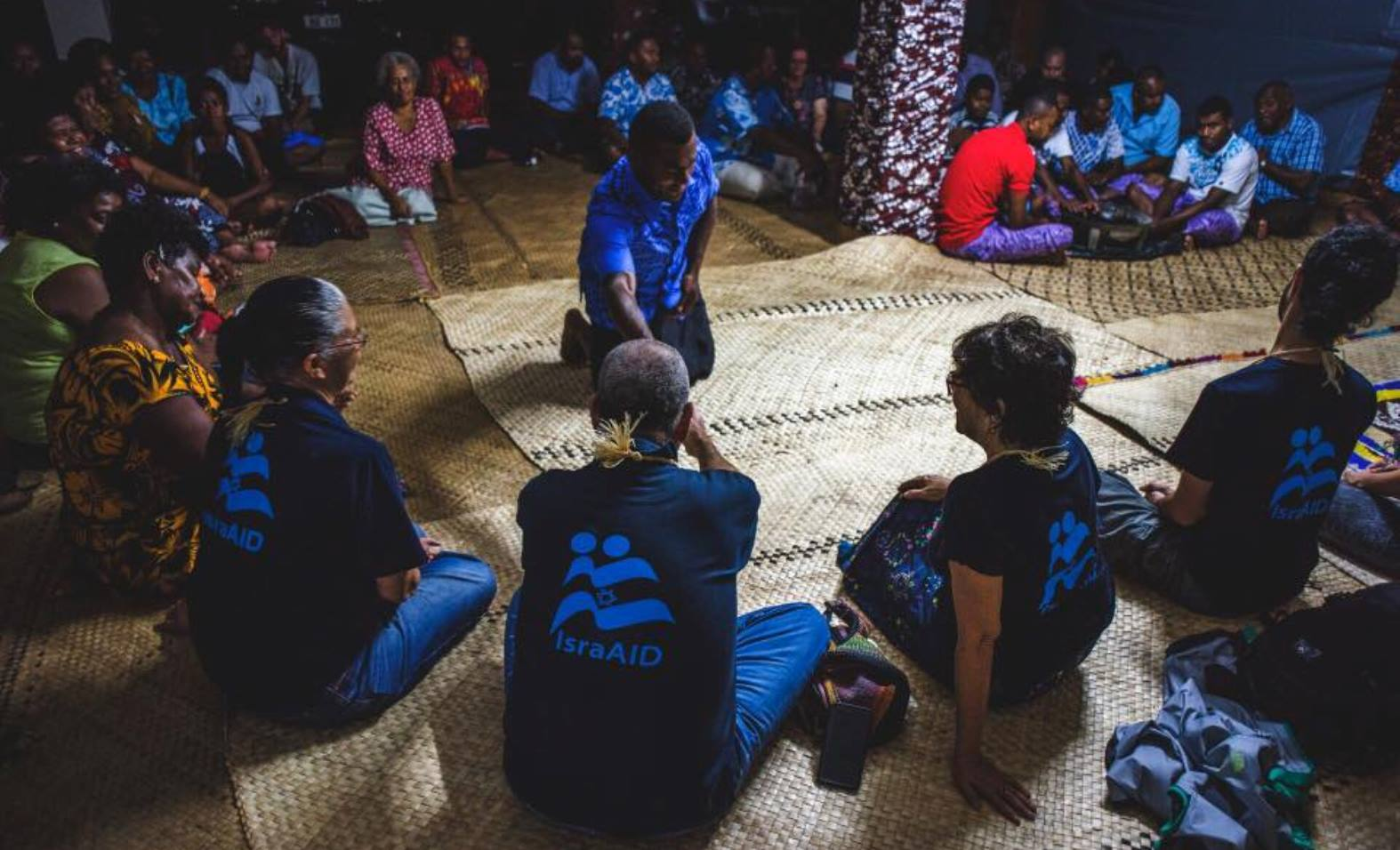 IsraAID is providing psychosocial support to the people of Fiji. Photo via Facebook