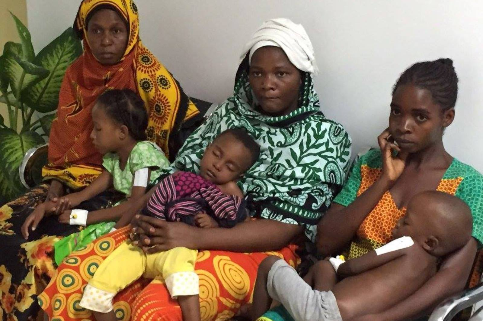 Mothers and children waiting to be evaluated by the Israeli doctors in Tanzania. Photo courtesy of SACH