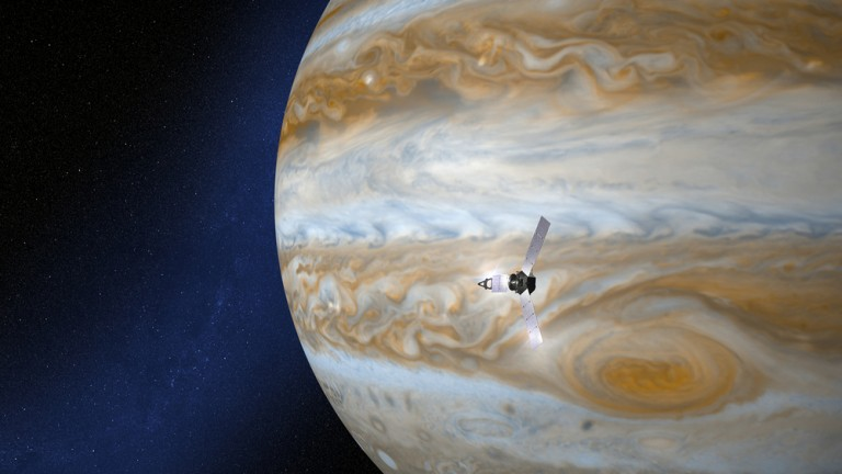 The Juno space probe near Jupiter. Photo by www.shutterstock.com