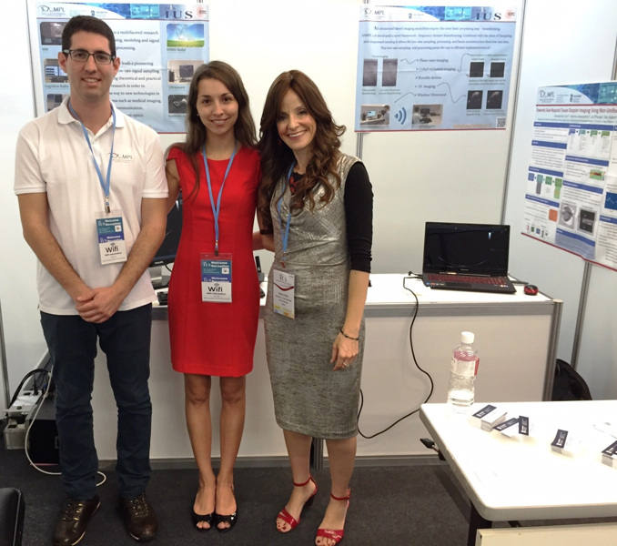 Prof. Yonina Eldar, rightand students Tanya Chernyakova and Regev Cohen. Photo courtesy of Technion Spokesperson's Office