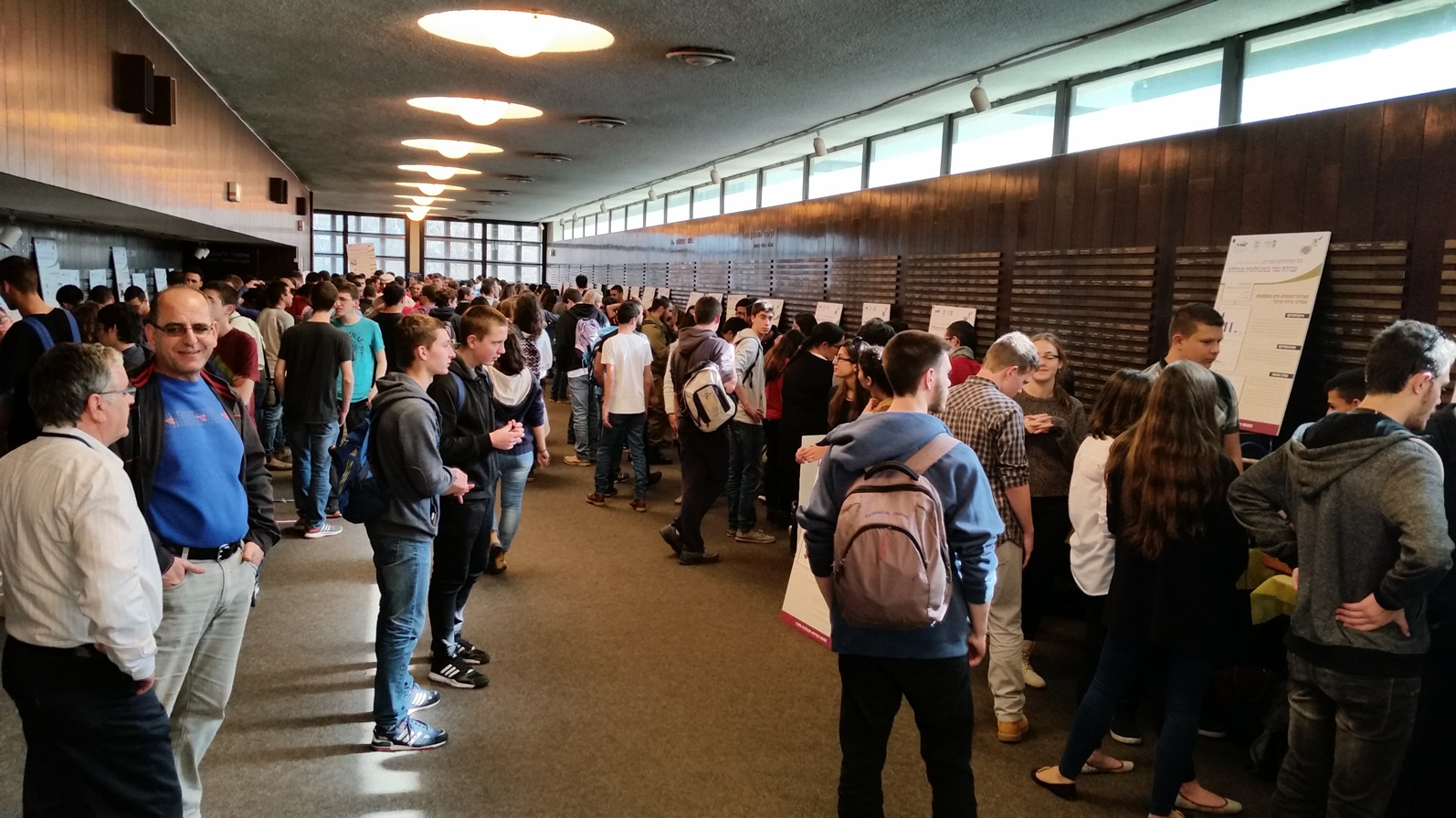 Hundreds of Israel Sci-Tech freshmen came to see the projects and learn more about STEM. Photo: courtesy