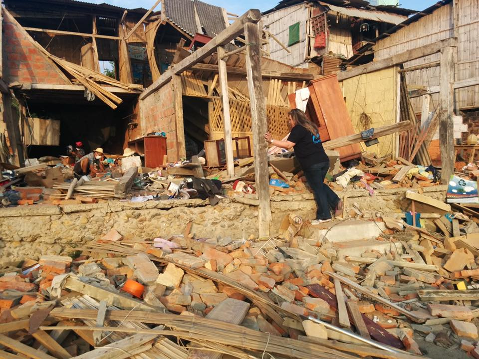 Earthquake destroyed virtually all of the simple one- and two-story buildings in Canoa. Photo via IsraAID