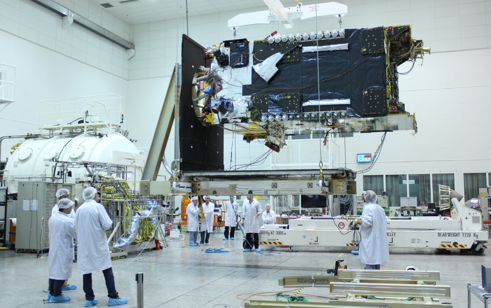 AMOS-6 in production. Photo courtesy of Spacecom