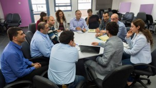 A meeting at the Nazareth Business Incubator Center. Photo: courtesy