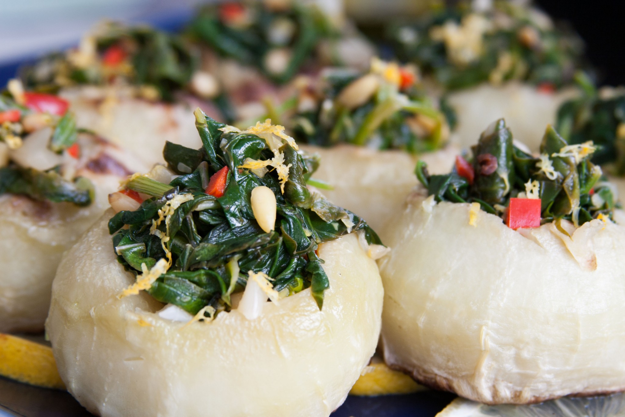 Ori Shavit's vegan stuffed kohlrabi. Photo: courtesy