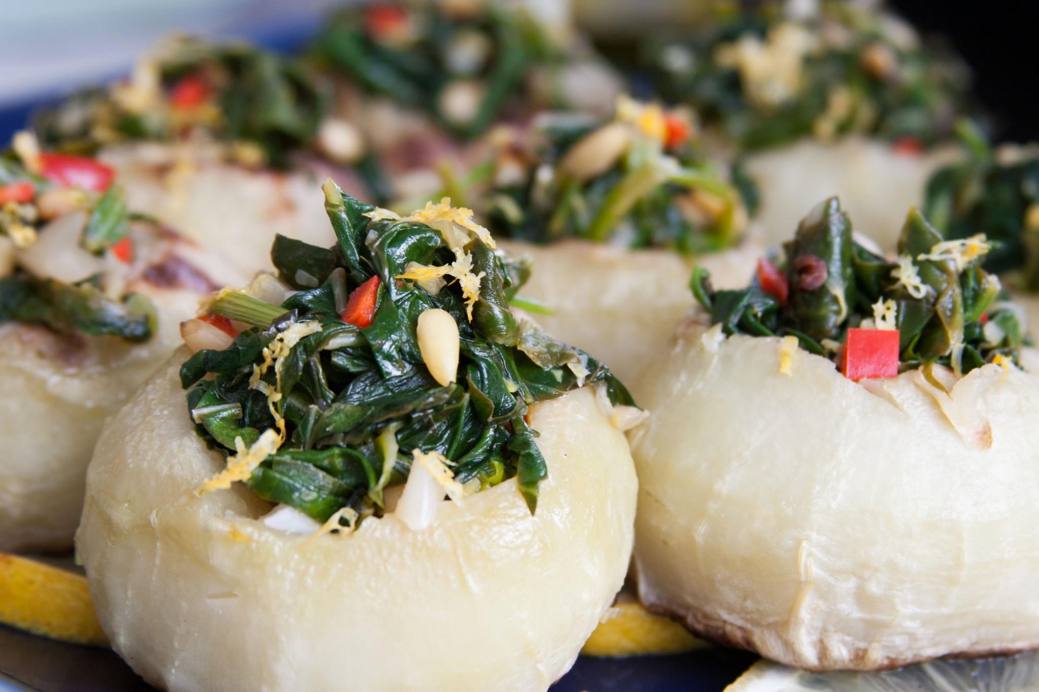 Ori Shavit's vegan stuffed kohlrabi. Photo: courtesy