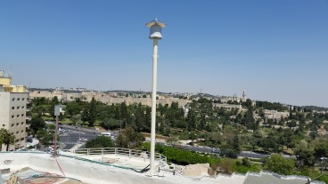 Looking out over Jerusalem's Old City from the roof of the Inbal Jerusalem Hotel. Photo by Danny Seaman