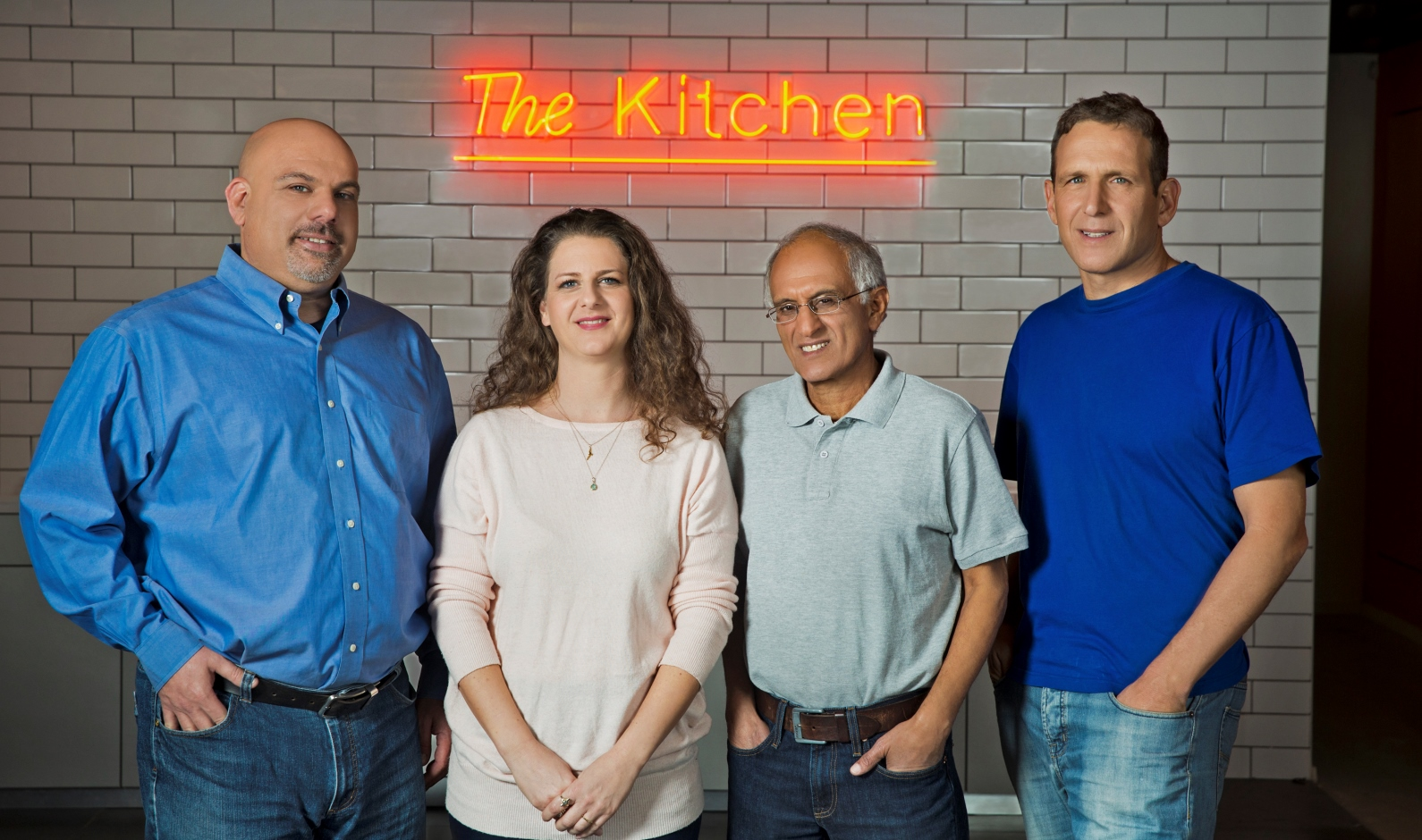The Kitchen team, from left, VP business development Amir Zaidman, operations manager Moran Diment, CTO David Nini and CEO Jonathan Berger. Photo: courtesy