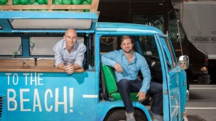 Vita Coco founders Mike Kirban, left, and Ira Liran. Photo by Jordan Hollander