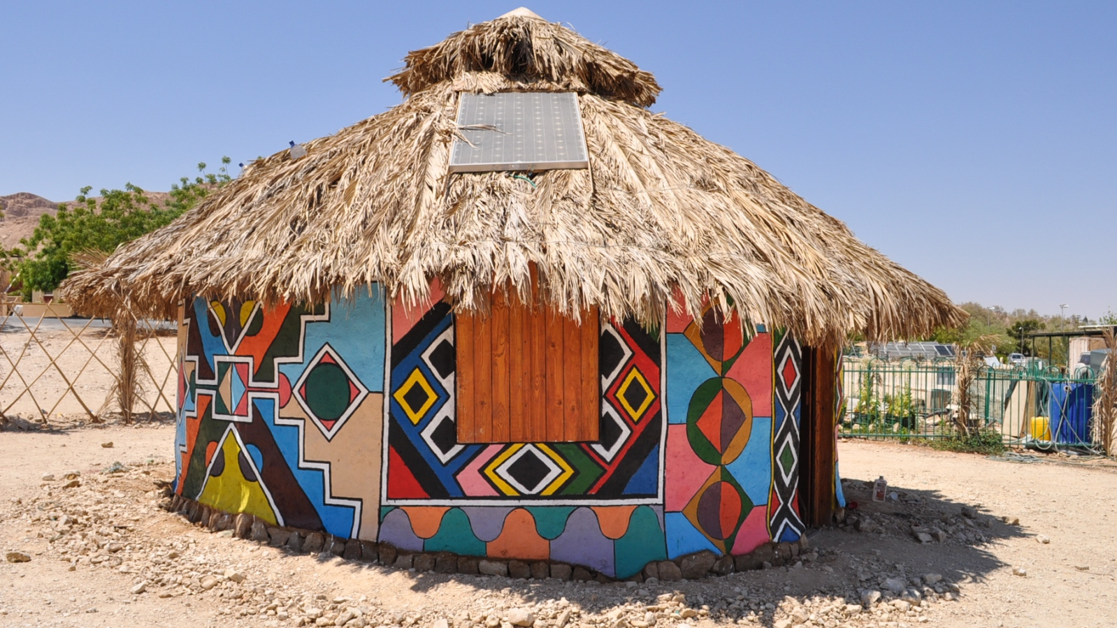 This rural hut is one of three structures in the Off-Grid Demonstration Village at Kibbutz Ketura. Photo courtesy of Arava Institute