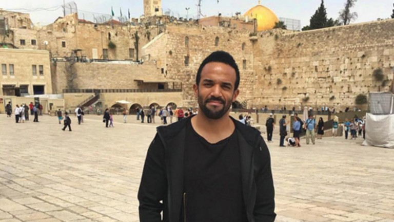 Craig David in Jerusalem. Photo via instagram