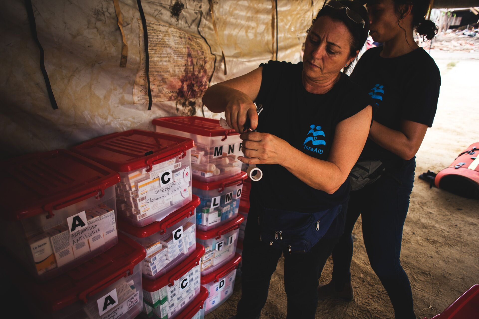 IsraAID field hospital in Canoa. Photo via IsraAID