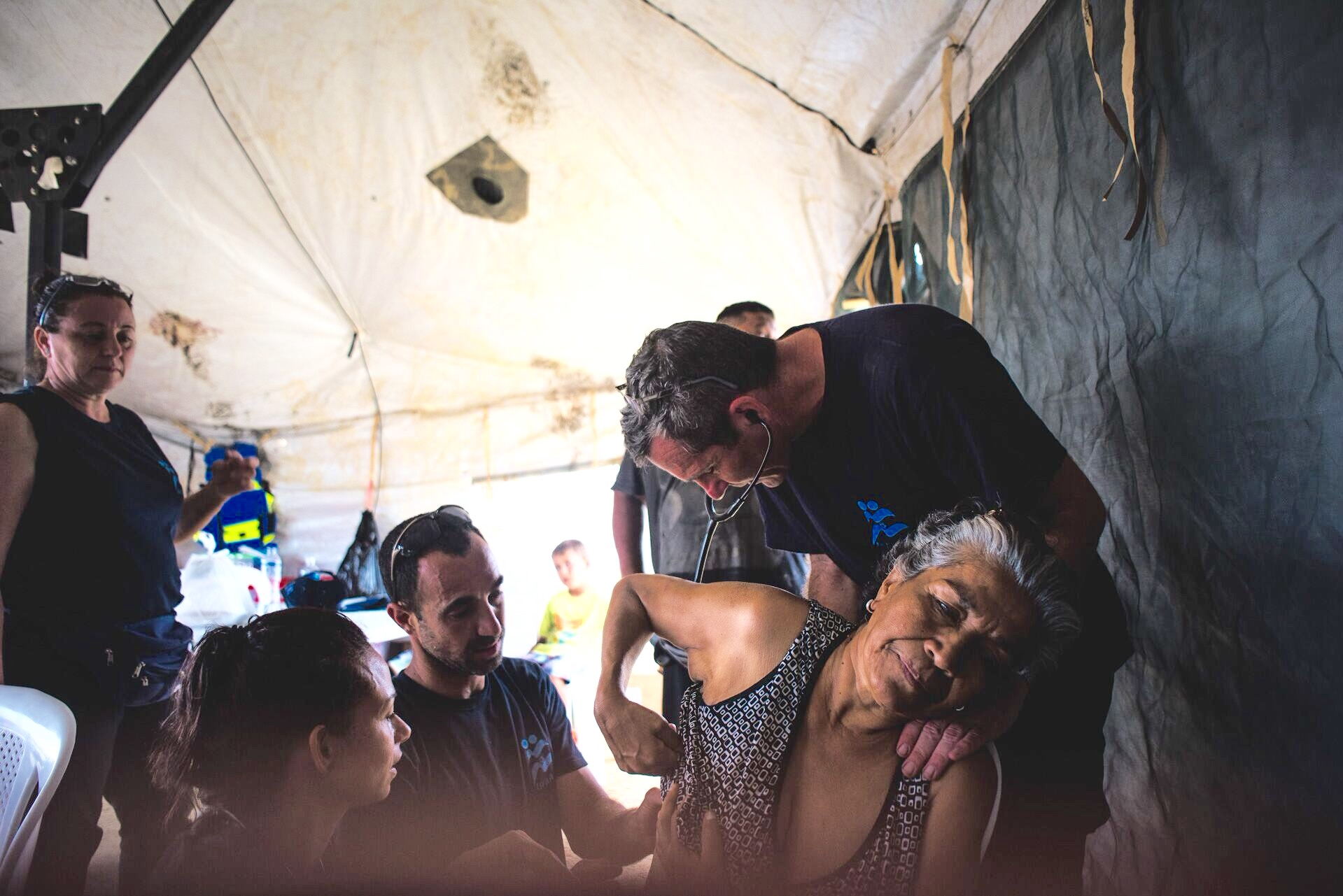 The field hospital – operating since April 23, 2016 -- is located in Canoa, near San Vincente. Photo via IsraAID