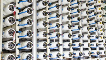 Fortune 500 companies rely on Israeli water tech. Pictured here: A reverse osmosis plant for desalinating sea water in Israel. Photo via Shutterstock.com
