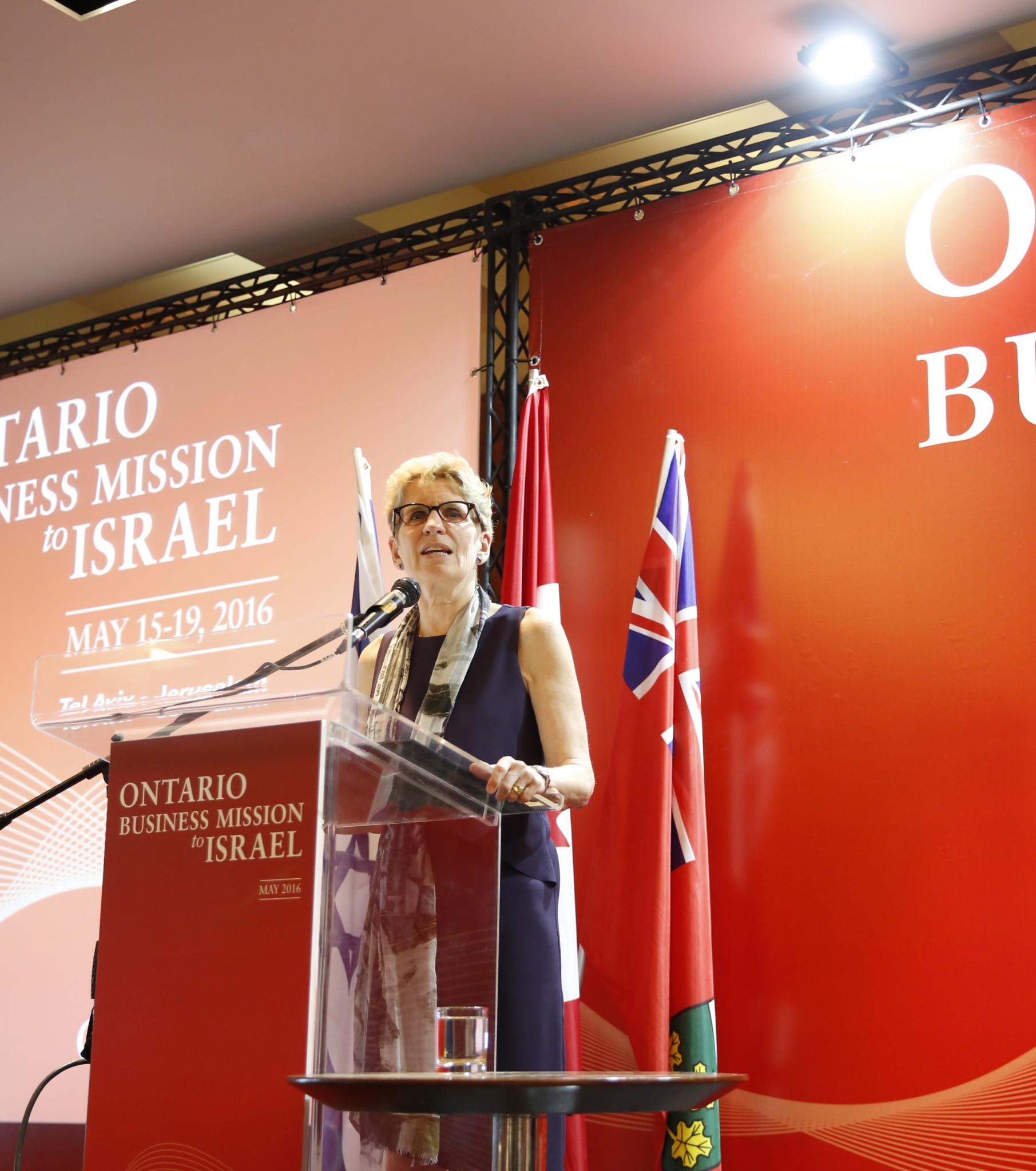 Ontario Premier Kathleen Wynne. Photo courtesy