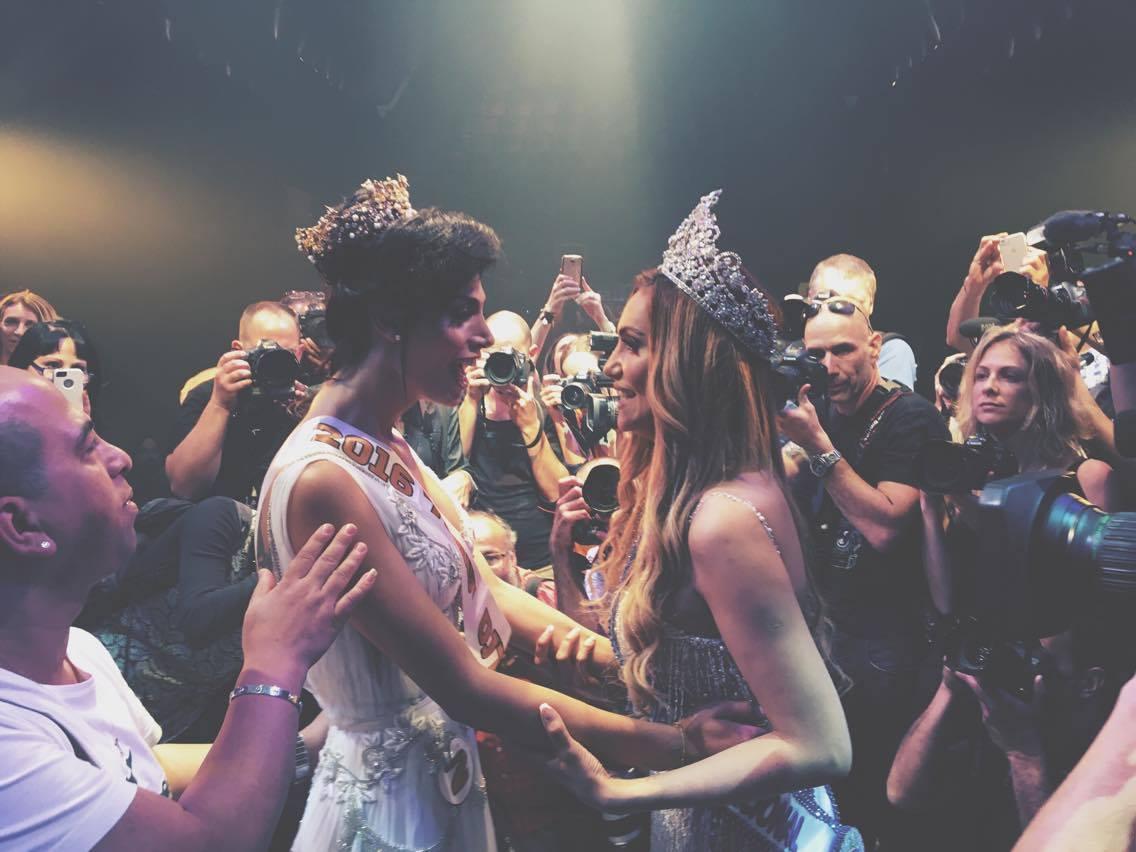 Taleen Abu Hanna, left, is Miss Trans Israel 2016. Photo via Facebook