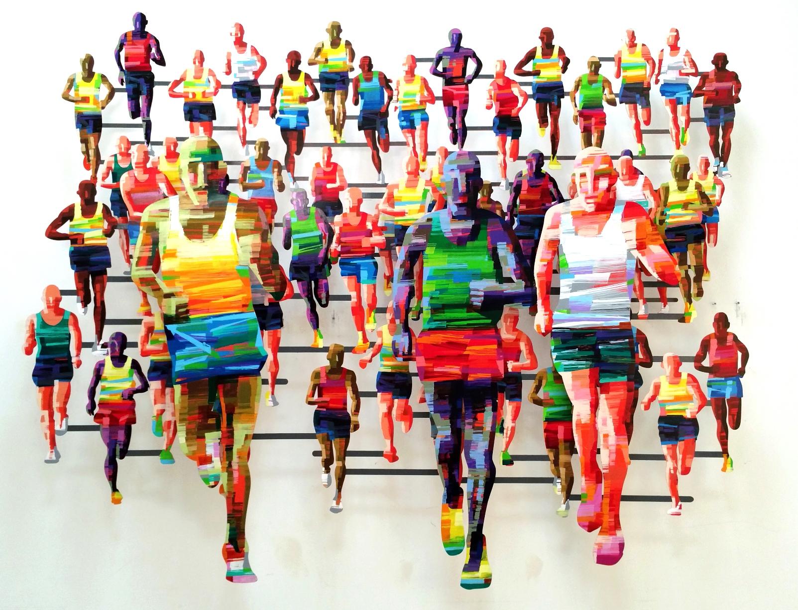 """""""Marathon""""hangs in Berlin. Photo courtesy of David Gerstein"""