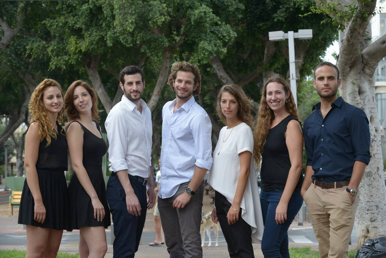 Noah Initiative's team, from left - Elinor Zagori, Noa Ben Aharon, Omer Schloss, Ben Topor, Noa Tasman, Gali Froind and Eyal Taubman. Photo courtesy