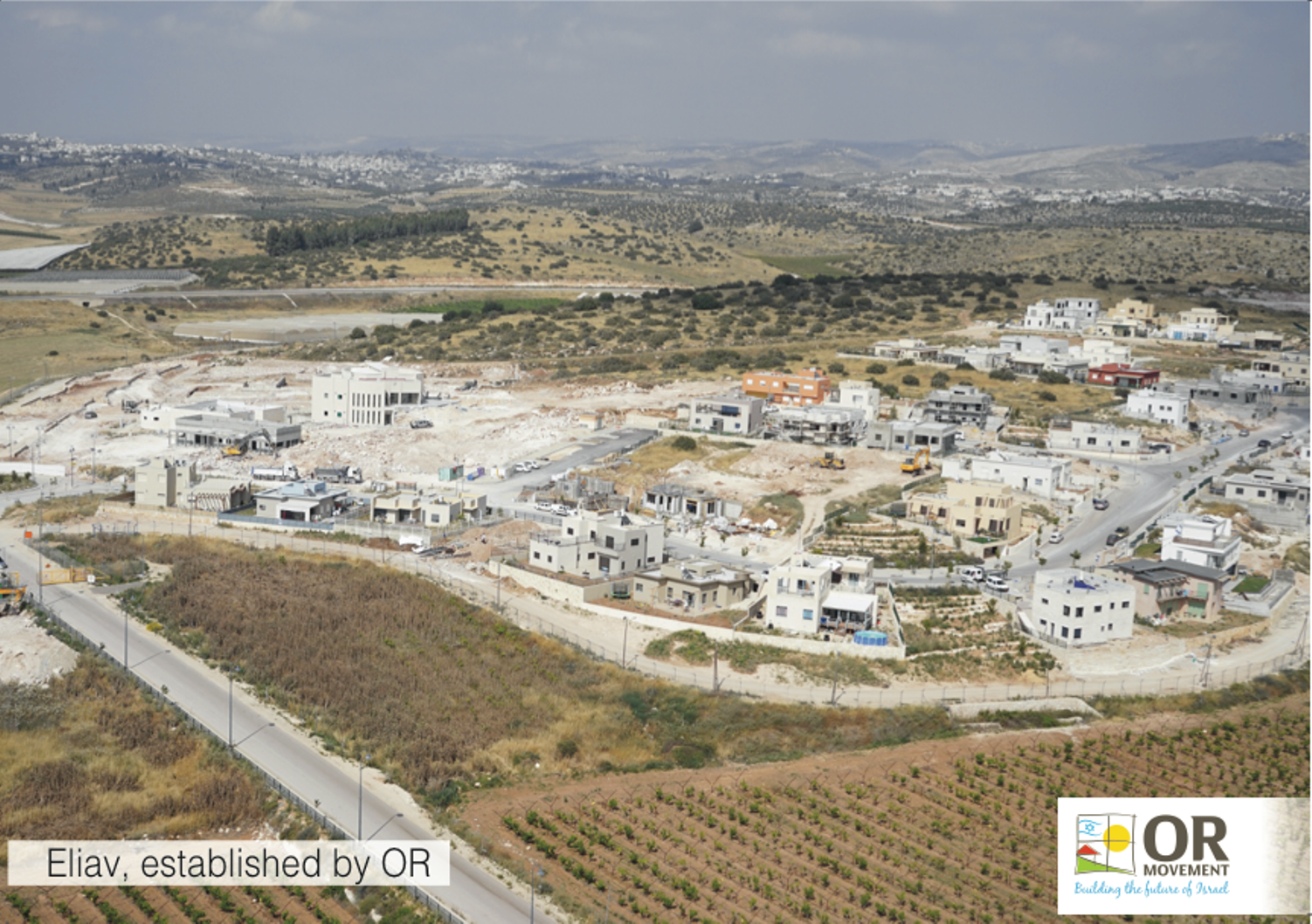 OR-Eliav. Eliav, an OR Movement community under construction southeast of Kiryat Gat, has a core group of 39 secular and Orthodox families. The final stage of the project will house 220 families. Photo courtesy