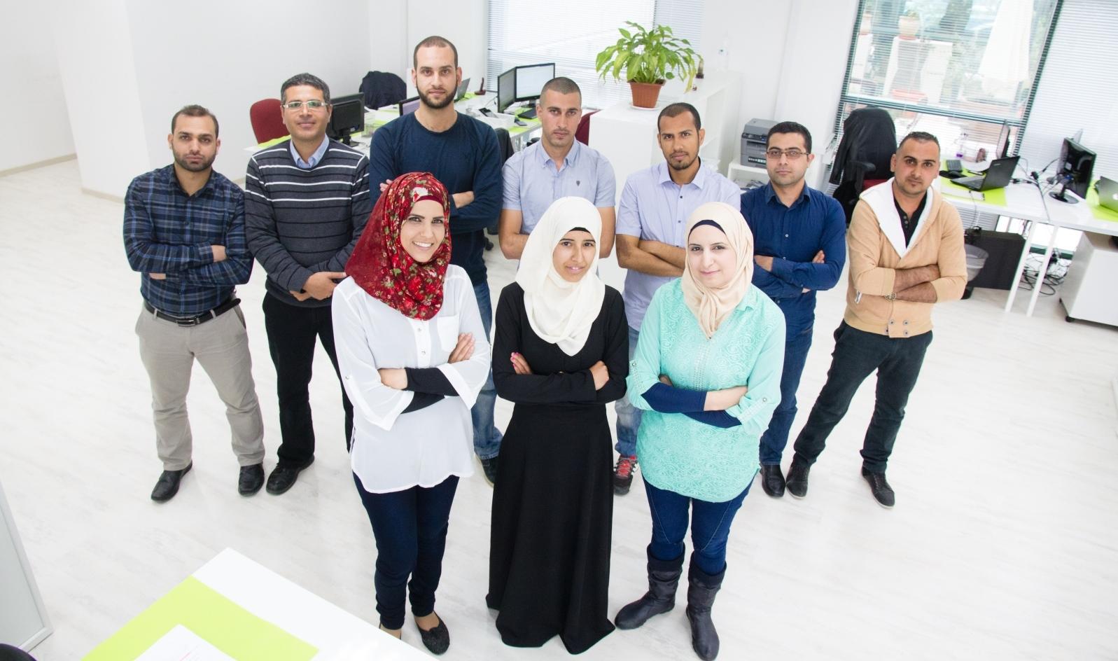 The SadelTech team. Photo by Anas Abu-Daabis