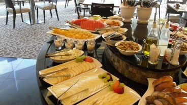 A typical Israeli hotel breakfast buffet. Photo: courtesy