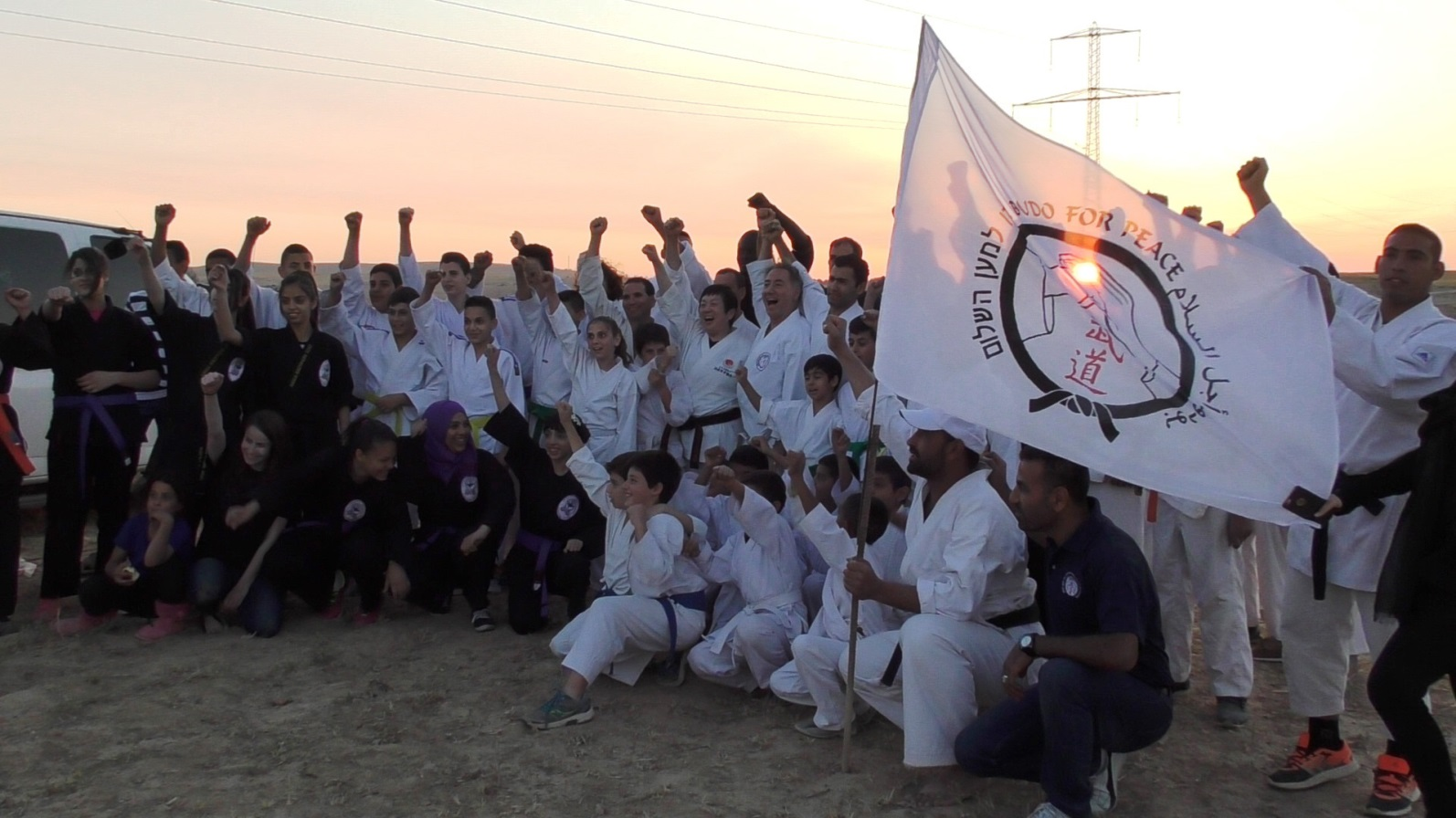 Training in the Negev Desert. Photo courtesy of Budo for Peace